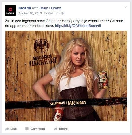 Bacardi oakheart Campagne