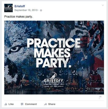 Eristoff Facebook content