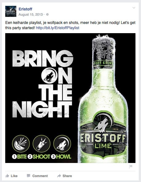 Eristoff Lime Bring on the Night