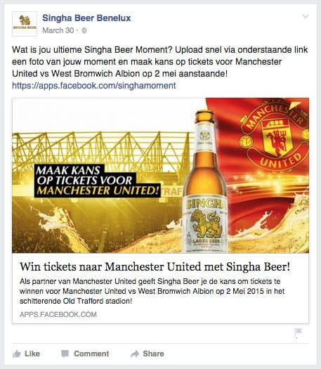 Singha Beer Manchester United