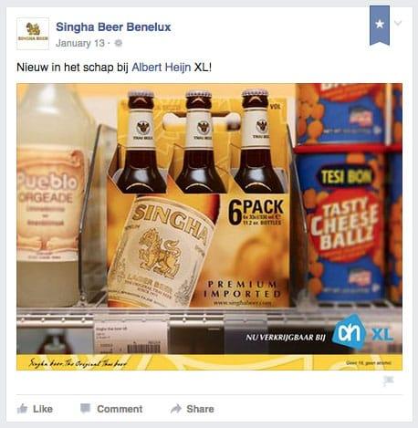 Singha Beer nu verkrijgbaar bij Albert Heijn XL