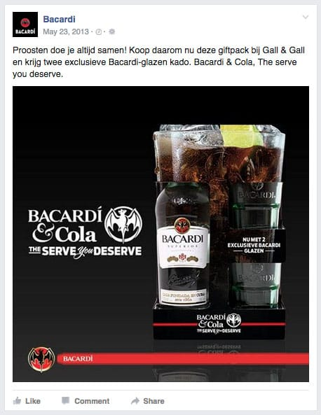 Bacardi & Cola: The perfect serve