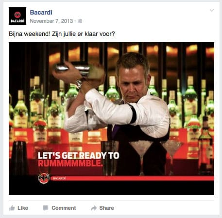Bacardi cocktail shaker