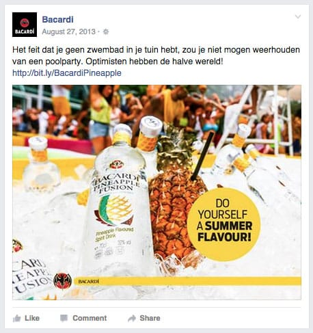 Bacardi Pineapple poolparty
