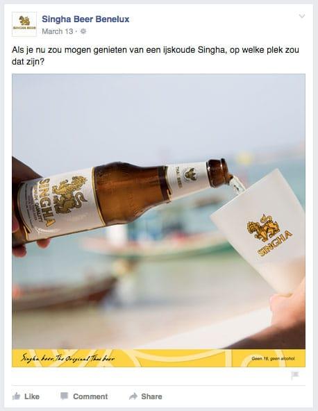 Singha Beer met glas