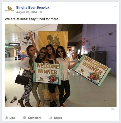 Singha Beer Ibiza Airport aankomst