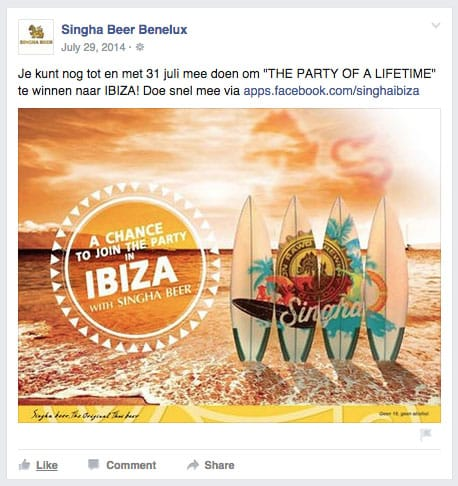 Singha Beer Join the Party In Ibiza contest