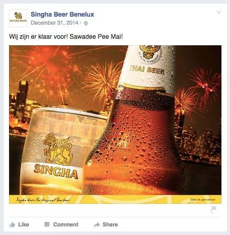 Singha Beer vuurwerk