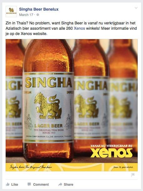 Singha Beer verkrijgbaar bij Xenos
