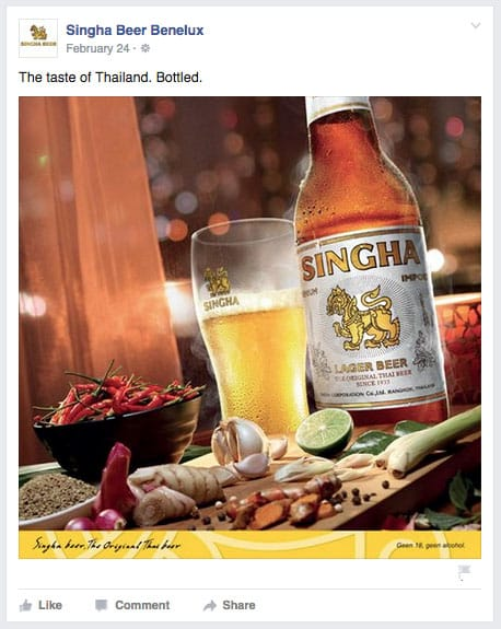 Singha Beer Thai Food