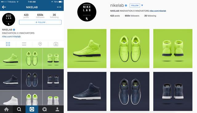 Nike Lab Instagram 3 x 3 Grid